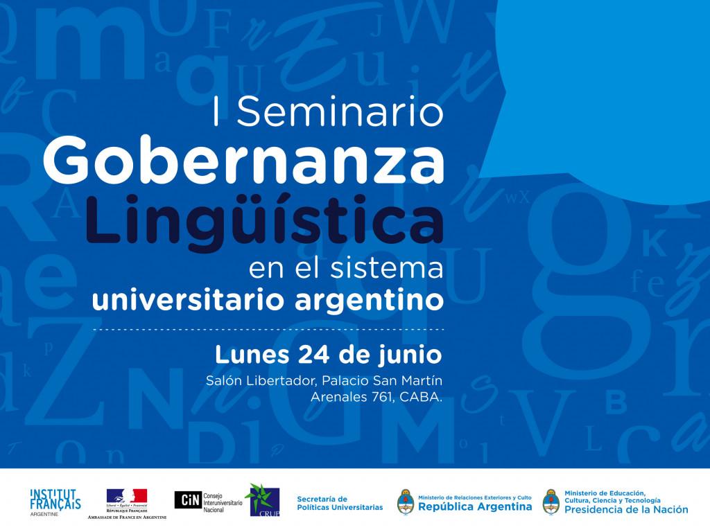 FLYER - Seminario Gobernanza Lingüística